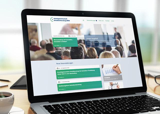 Arbeitsgemeinschaft Schuldnerberatung NRW Website