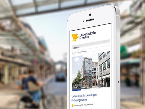 Ladenlokale in Krefeld Website Redesign
