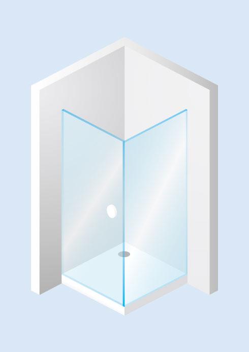 Tür mit Seitenwand