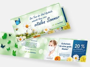 Vital Apotheke: Flyer Erstellung nach Jahreszeit