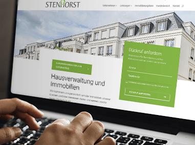 Stenhorst Hausverwaltung: Website Erstellung mit einigen Funktionen